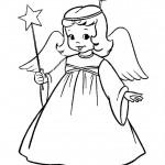 Angioletti da colorare e stampare gratis_angelo con bachetta magica