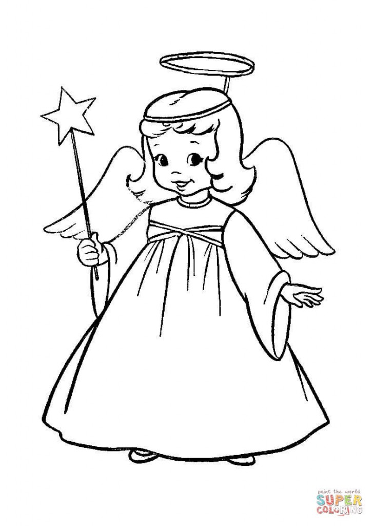 angioletti da colorare e stampare gratis angelo con On angioletti da colorare e stampare