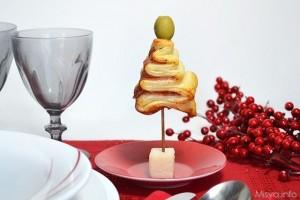 Antipasti di Natale last minute facili_alberelli di Natale in pasta sfoglia