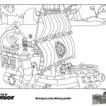 Disegni da colorare di Jake e i pirati_cubby suona la batteria