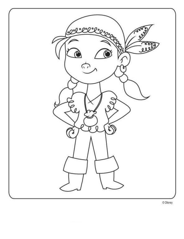 disegni da colorare di jake e i pirati izzy blogmamma it