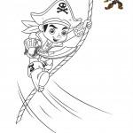 Disegni da colorare di Jake e i pirati_Jake sulla fune