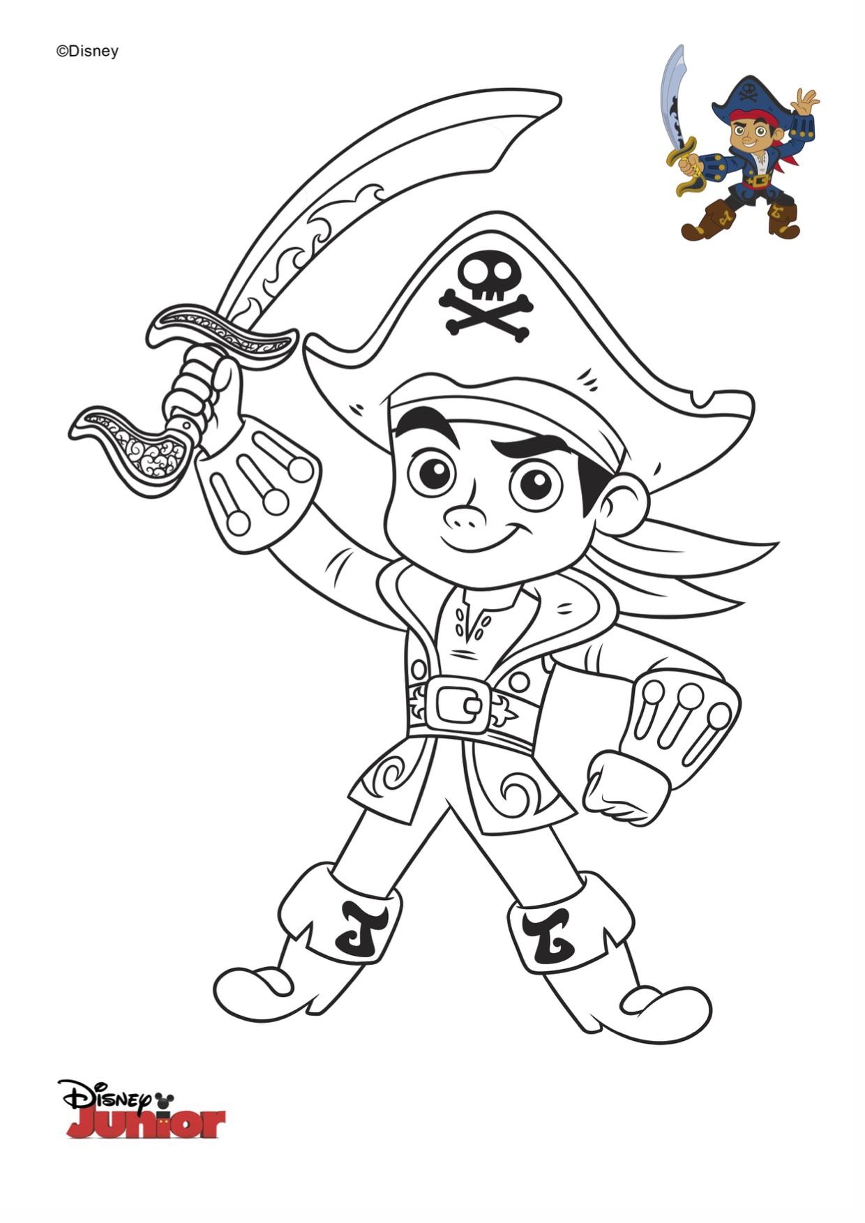 Disegni da colorare di jake e i pirati jake - Pirata immagini da colorare i pirati ...