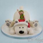 Panettoni decorati più belli del web_orso con Elfo