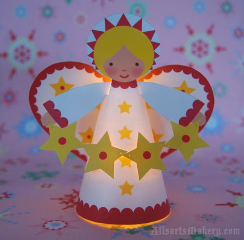 Cinque angeli fai da te per natale e bomboniere for Angeli da ritagliare