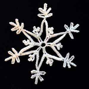 iocchi neve uncinetto per Natale
