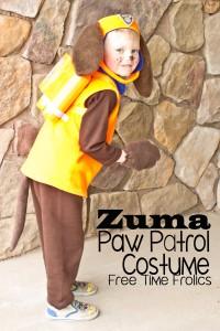 Costumi di carnevale della Paw Patrol fai da te_Zuma