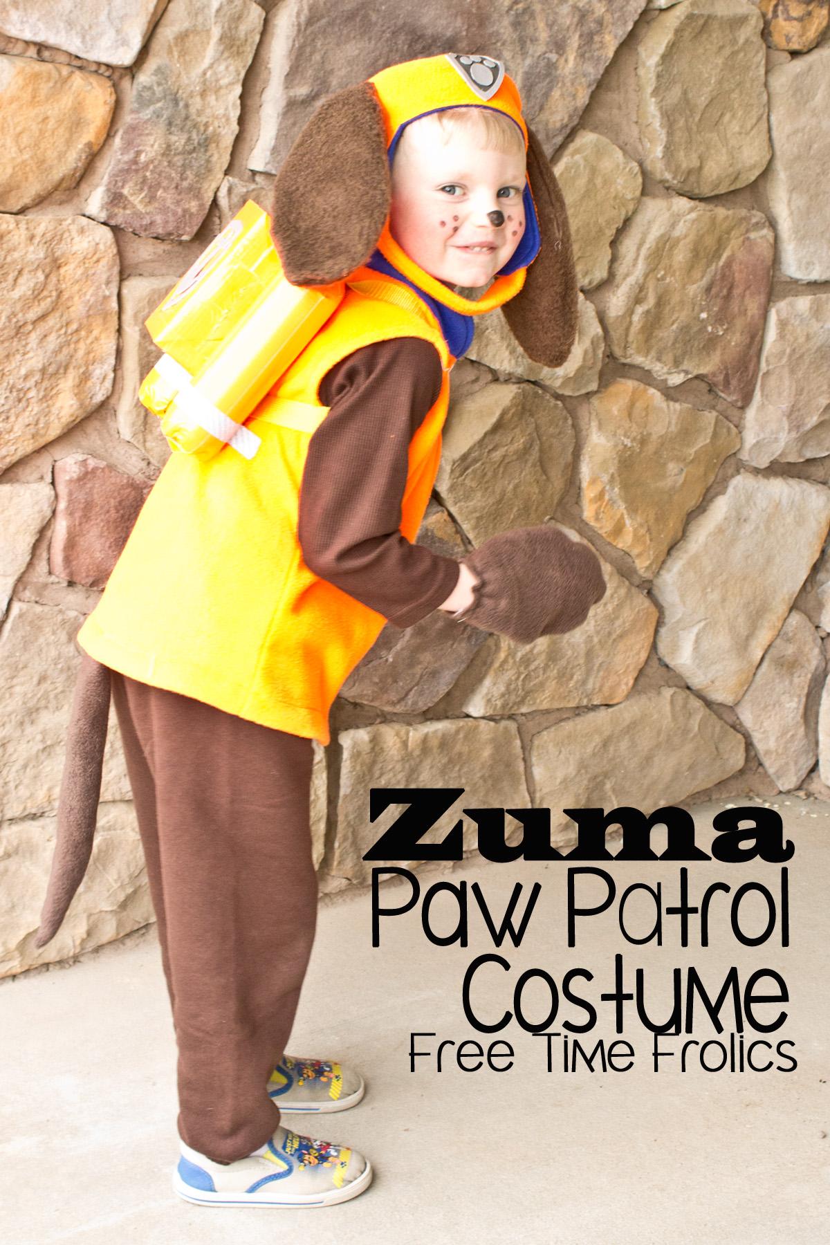 4357256d3a1d Costumi di carnevale della Paw Patrol fai da te_Zuma