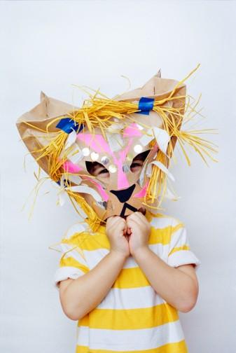 maschera e costume leone fai da te