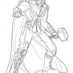 disegni di carnevale da colorare_Thor