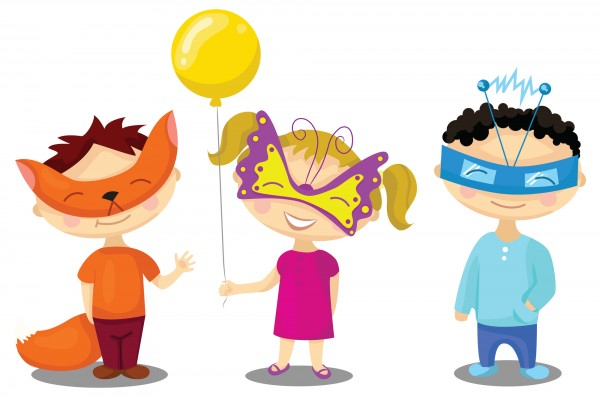 disegni di carnevale da colorare_bambini in maschera