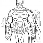 disegni di carnevale da colorare_batman