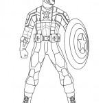 disegni di carnevale da colorare_captain America