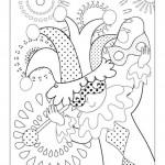 disegni di carnevale da colorare_pagliaccio