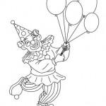 disegni di carnevale da colorare_pagliaccio con palloncini