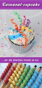 dolci di carnevale da fare con i bambini_ cupcake con stelle filanti