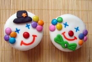 dolci di carnevale da fare con i bambini_clown cupcake