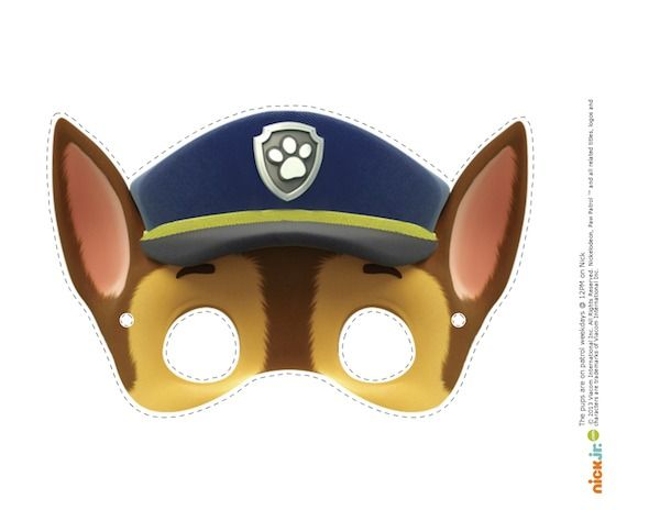 maschere della paw patrol fai da te_chase