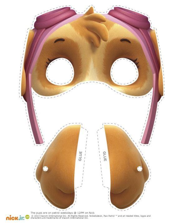 maschere della paw patrol fai da te_skye