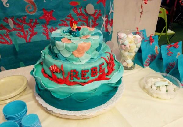 Festa a tema Sirenetta_torta