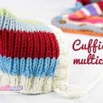 Come fare un cappellino-cuffietta a maglia per bambini con avanzi di lana