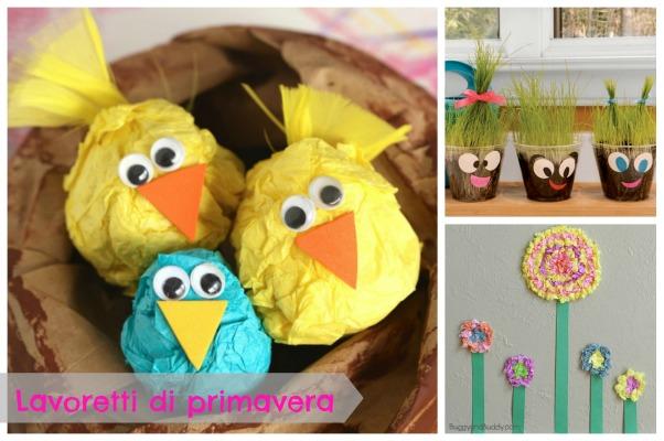Lavoretti primavera per bambini della scuola materna for Lavoretti di primavera