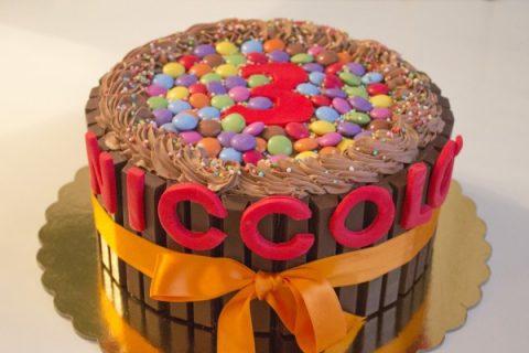 torta facile compleanno bambino con ganache cioccolato