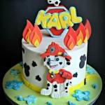 Torte di compleanno della Paw Patrol Marshall