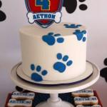 Torte di compleanno della Paw Patrol _impronte di cane