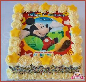 Torte di compleanno di Topolino con cialda
