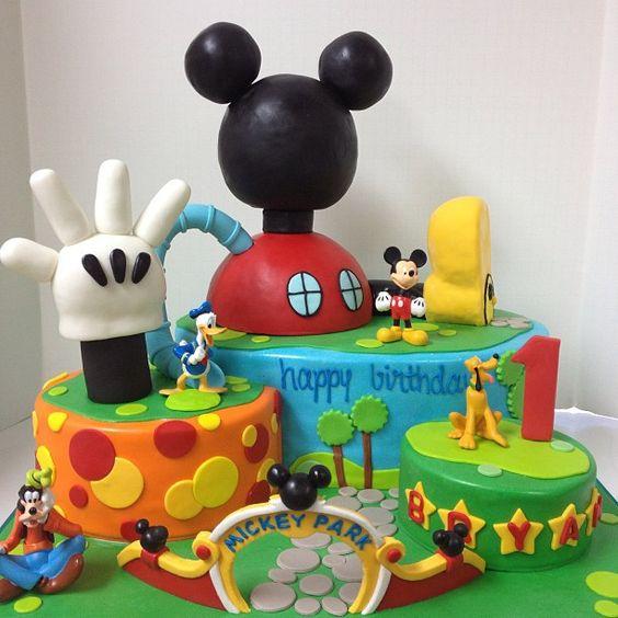 Torte di compleanno di Topolino_la casa di Topolino