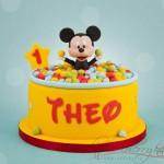 Torte di compleanno di Topolino_palline multicolor
