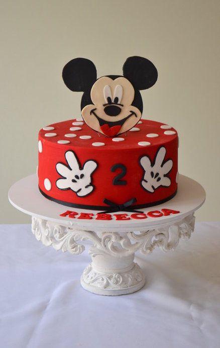 Torte di compleanno di Topolino_pasta di zucchero rossa