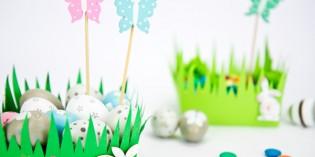 Come fare un grazioso cestino di Pasqua di Carta