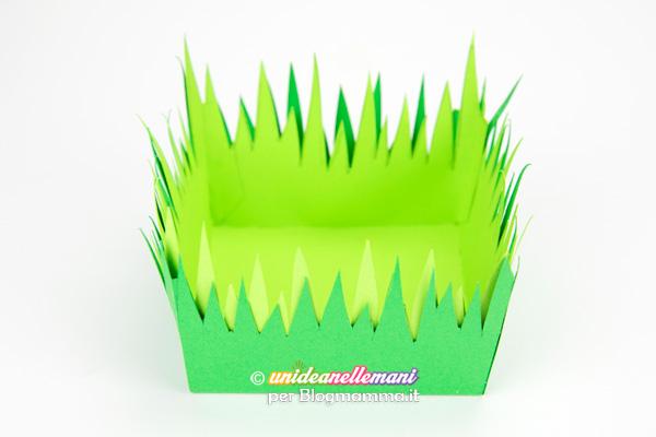cestino di Pasqua di carta