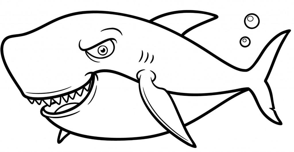 Pesce di aprile bambini immagini colorare squalo for Squalo bianco da colorare