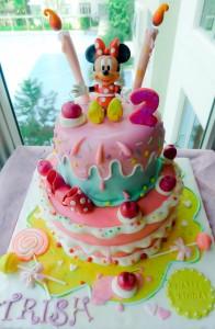 torte compleanno di Minnie colorata