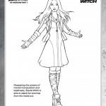 Disegni da colorare degli Avengers_Scarlett witch
