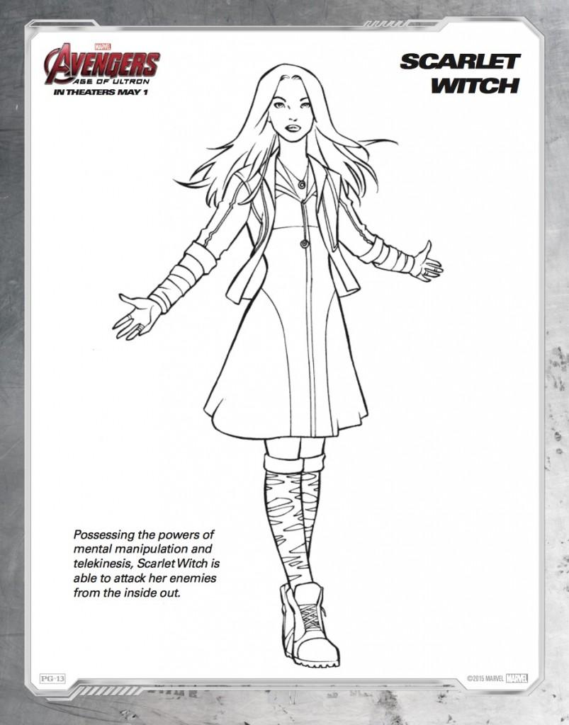 Disegni da colorare degli avengers scarlett witch for Colorare avengers
