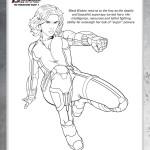 Disegni da colorare degli Avengers_black widow