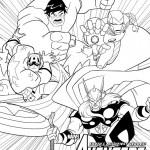 Disegni da colorare degli Avengers_gruppo supereroi