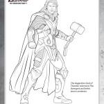 Disegni da colorare degli avengers_Thor