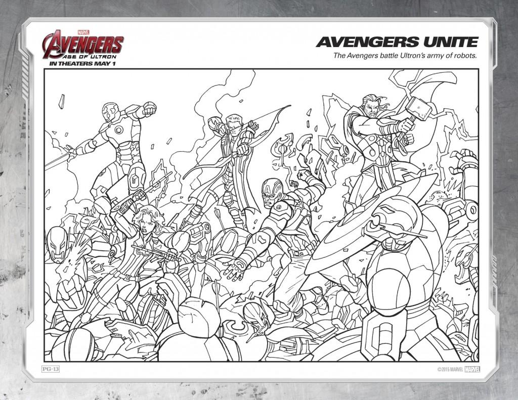 Disegni da colorare degli avengers gruppo for Colorare avengers
