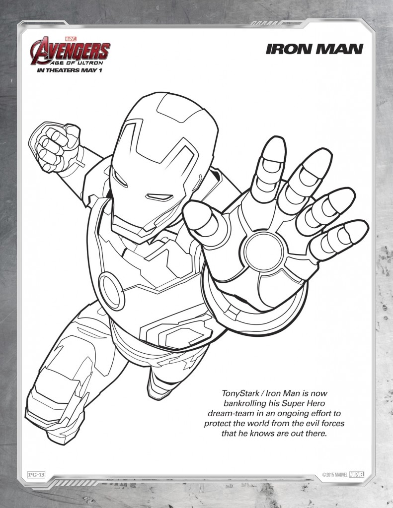 Disegni da colorare degli avengers_iron man