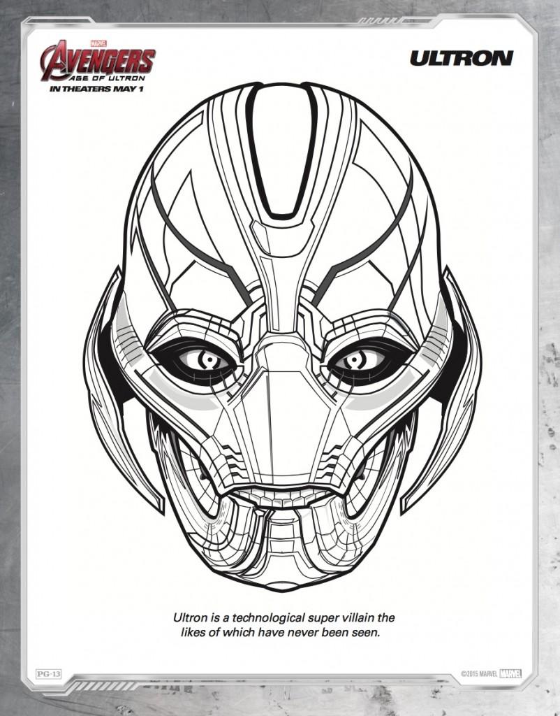 Disegni da colorare degli avengers_ultron