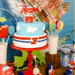 Festa di compleanno dei Super Wings_buffet+torta