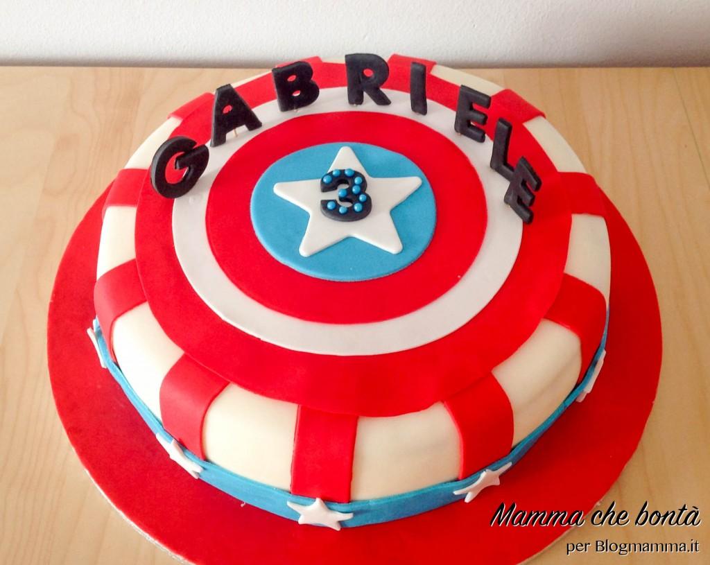 torte di compleanno degli Avengers_scudo Capitan America
