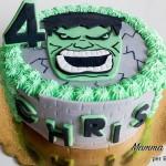 torte di compleanno degli Avengers_Hulk