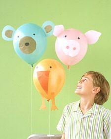 decorazioni per le feste con i palloncini a forma di animali