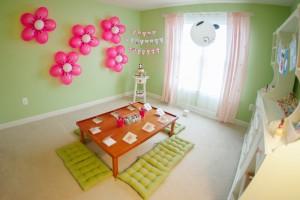 decorazioni per le feste con i palloncini a forma di fiore